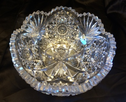 Medium Cut Crystal Bowl