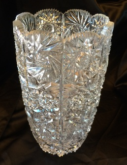 Large Cut Crystal Vase